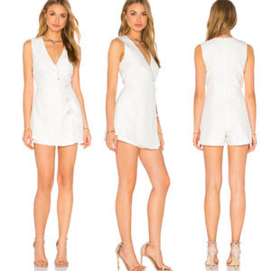 C/MEO Collective Ivory Button Front Playsuit